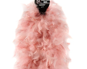 120 Gram Chandelle Feather Boa Champagne 2 Yards For Party Favors, Kids Craft & Dress Up, Dancing, Wedding, Halloween, Costume ZUCKER®