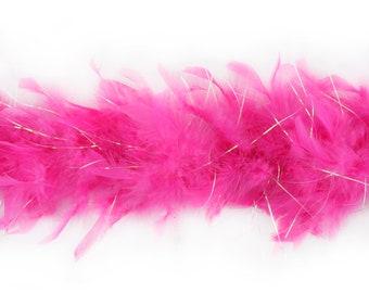 40 Gram Chandelle Feather Boa  PINK & ORAL LUREX 2 Yards For Party Favors, Kids Craft, Dress Up, Dance, Halloween, Costume Zucker®