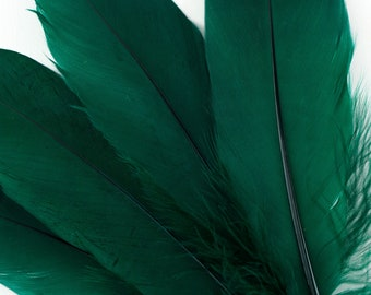 """Goose Feathers, 6-8"""" Loose Goose Pallet Feathers HUNTER GREEN - Arts and Craft Supplies ZUCKER®"""