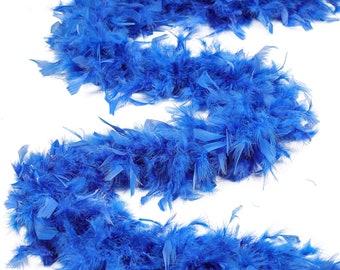 60 Gram Chandelle Feather Boa, Dark Turquoise 2 Yards For Party Favors, Kids Craft & Dress Up, Dancing, Wedding, Halloween, Costume ZUCKER®