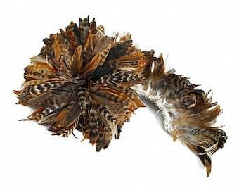 Natural Red Chinchilla Schlappen Feathers - Strung 1/2 Yard CXCSR6-8-.50YD--N ZUCKER®