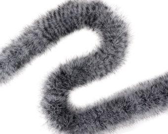 Black & White Stenciled X-Heavy Marabou Feather Boa, Luxurious Marabou Boa for Fashion, Costume Design, Home Decor, DIY Art Crafts ZUCKER®