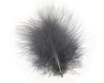 Turkey Feathers, Blue Dunn Loose Turkey Marabou Feathers, Short and Soft Fluffy Down, Craft and Fly Fishing Supply Feathers ZUCKER®