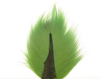 Deer Tails Dyed Florescent Green (FLG) over Natural - For Fly Fishing, Fly Tying ZUCKER®
