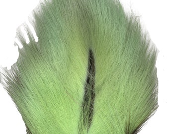 Deer Tails Dyed Mint Green (MG) over Natural - For Fly Fishing, Fly Tying ZUCKER®