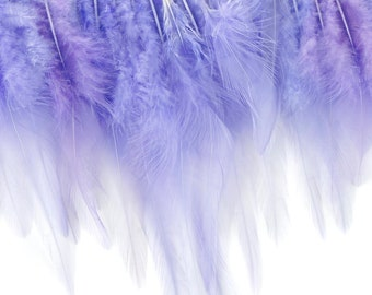 "1 Yard LAVENDER Dyed Saddle Feather Fringe approx 5-6"" - Fringe for Costume, Fashion & Millinery Design  ZUCKER®"