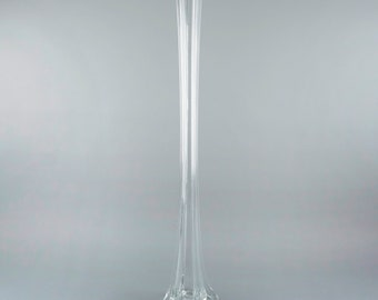 """Eiffel Tower Vase CLEAR 24"""" - Floral Vase for Feather Centerpieces, Wedding Reception Decor, Birthday Party Decorations ZUCKER®"""