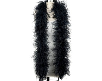 4 Ply Ostrich Feather Boa BLACK 2 Yards For Fashion, Accessory, Halloween, Costume Design, Dress Up, Dancing, Stage Performance ZUCKER®