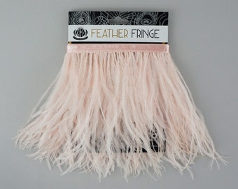 CHAMPAGNE 1 YARD Ostrich Feather Fringe - For Bridal, Carnival Costume, Cosplay, Millinery, Fashion Design and Decor  ZUCKER®