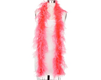 2 Ply Ostrich Feather Boa CORAL 2 Yards For Fashion, Accessory, Halloween, Costume Design, Dress Up, Dancing, Stage Performance ZUCKER®