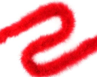 RED Marabou Feather Boa Heavy Weight 25 Gram 2 Yards For DIY Art Crafts Carnival Fashion Halloween Costume Design Home Decor ZUCKER®
