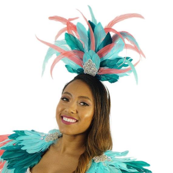 Tropical Muse Feather Costume Headband for Carnival & Samba - ZUCKER®  Feather Place Original Designs - Unique Fantasy Costume Dance Wear