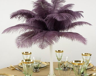 """Ostrich Feathers 13-16"""" Amethyst - For Feather Centerpieces, Party Decor, Millinery, Carnival, Fashion & Costume ZUCKER®"""