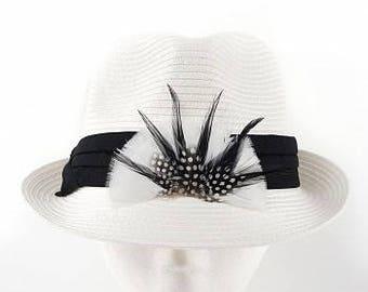 Feather Hat Trim/Crown - BP5504--BL-W-N ZUCKER®