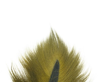 Deer Tails Dyed Olive (OL) over Natural - For Fly Fishing, Fly Tying ZUCKER®