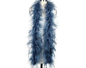 2 Ply Ostrich Feather Boa TWILIGHT 2 Yards For Fashion, Accessory, Halloween, Costume Design, Dress Up, Dancing, Stage Performance ZUCKER®