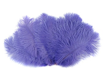 """Ostrich Feathers 9-12"""" LAVENDER, Ostrich Drabs, Centerpiece Floral Supplies, Carnival & Costume Feathers ZUCKER®Dyed and Sanitized USA"""