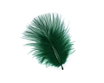 Turkey Feathers, Hunter Green Loose Turkey Marabou Feathers, Short and Soft Fluffy Down, Craft and Fly Fishing Supply Feathers ZUCKER®