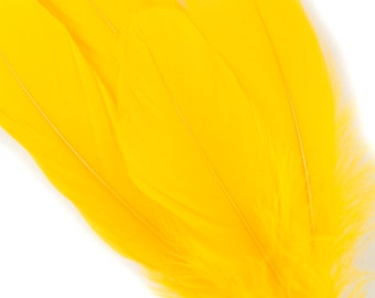 """Goose Feathers, 6-8"""" Loose Goose Pallet Feathers GOLD  - Arts and Craft Supplies ZUCKER®"""