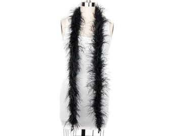 1 Ply Ostrich Feather Boa Economy BLACK 2 Yards -Fashion, Accessory, Halloween, Costume Design, Dress Up, Dancing, Stage  ZUCKER®