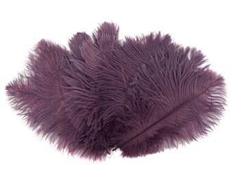 """Ostrich Feathers 9-12"""" AMETHYST Purple, Ostrich Drabs, Centerpiece Floral Supplies, Carnival, Costume Feathers ZUCKER® Dyed & Sanitized USA"""