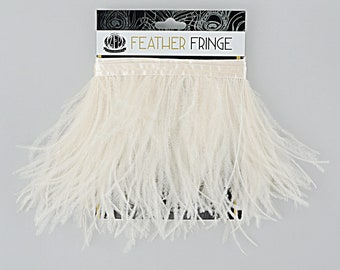 IVORY 1 YARD Ostrich Feather Fringe - For Bridal, Carnival Costume, Cosplay, Millinery, Fashion Design and Decor  ZUCKER®