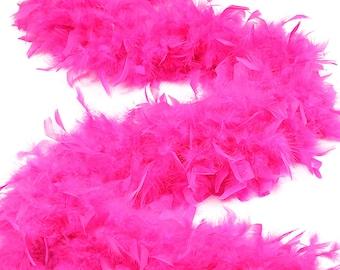 120 Gram Chandelle Feather Boa Shocking Pink 2 Yards For Party Favors, Kids Craft & Dress Up, Dancing, Wedding, Halloween, Costume ZUCKER®