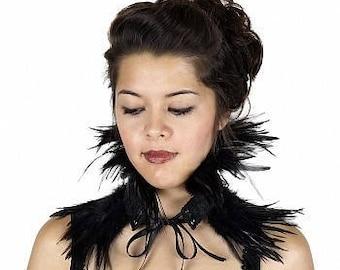 Evil Queen Black Feather Choker - Ravenna Inspired Costume Feather Choker ZUCKER® Feather Place Original Designs