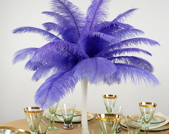 """Ostrich Feathers 13-16"""" LAVENDER - For Feather Centerpieces, Party Decor, Millinery, Carnival, Fashion & Costume ZUCKER®"""