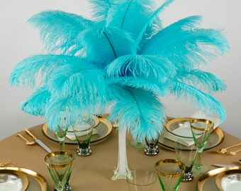 """Ostrich Feathers 13-16"""" LIGHT TURQUOISE For Feather Centerpieces, Party Decor, Millinery, Carnival, Fashion & Costume ZUCKER®"""