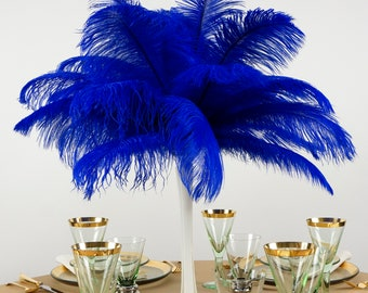 """Ostrich Feathers 13-16"""" ROYAL BLUE - For Feather Centerpieces, Party Decor, Millinery, Carnival, Fashion & Costume ZUCKER®"""