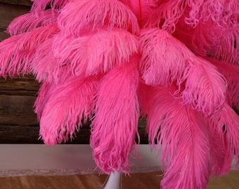 "Ostrich Feathers 17-20"" PINK Orient, 1 to 25 pcs, Ostrich Plumes, Carnival Samba, Ostrich Drab, Mardi Gras, Centerpieces, Fans ZUCKER® USA"