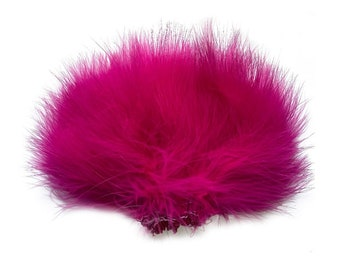 SHOCKING PINK Strung Marabou Turkey Feathers - For Fly Fishing, Fly Tying, D.I.Y Arts and Crafts ZUCKER®