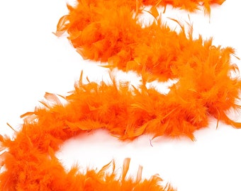 60 Gram Chandelle Feather Boa, Orange 2 Yards For Party Favors, Kids Craft & Dress Up, Dancing, Wedding, Halloween, Costume ZUCKER®