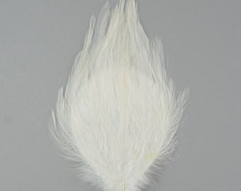 WHITE Dyed Hackle Pads - Feather Patches For Arts & Crafts, DIY Fascinators, Millinery, Fashion, Costume and Carnival Design ZUCKER®