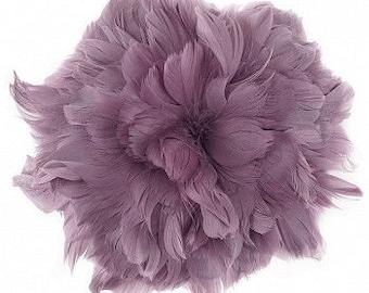 "Goose Nagorie Feathers 5-6"" Amethyst, Purple Strung Goose Feathers, Small Purple Goose Feathers Bulk - 1 Yard ZUCKER®"