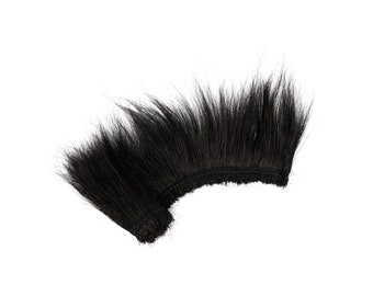"""Peacock Flue, 6-8"""" BURNT, Dyed Black Peacock Flue, Short Peacock Herl Feathers for millinery hat design, couture fashion accessory ZUCKER®"""