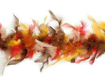 40 Gram Chandelle Feather Boa FALL Mix 2 Yards For Party Favors, Kids Craft, Dress Up, Dancing, Halloween, Costume Zucker®