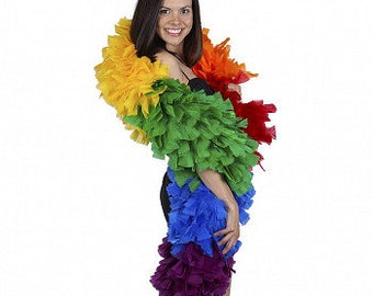 PRIDE Parade Feather Boa - Large Rainbow Pride Feather Boa, Carnival Costume,  Showgirl, Burlesque Dance Feather Boa ZUCKER®