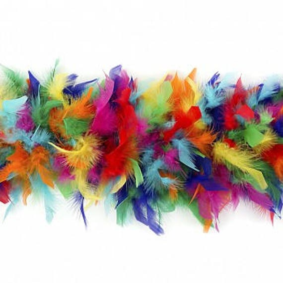 "Rainbow color 100gram 72/"" Chandelle Feather Boa fancy dress stage parade props"