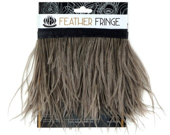 IRIS 1 YARD Ostrich Feather Fringe - For Bridal, Carnival Costume, Cosplay, Millinery, Fashion Design and Decor  ZUCKER®