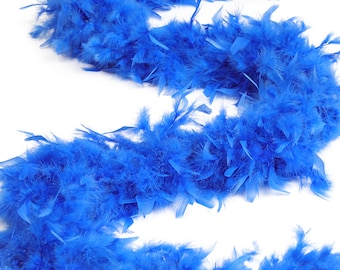 120 Gram Chandelle Feather Boa, Royal Blue 2 Yards For Party Favors, Kids Craft & Dress Up, Dancing, Wedding, Halloween, Costume ZUCKER®