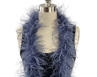Ostrich Feather Boa, Twilight 2 Ply Value Ostrich Boa Halloween Costume, Dance and Fashion Design ZUCKER® Dyed & Sanitized in the USA