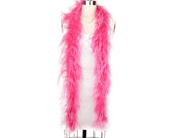 2 Ply Ostrich Feather Boa RASPBERRY 2 Yards For Fashion, Accessory, Halloween, Costume Design, Dress Up, Dancing, Stage Performance ZUCKER®