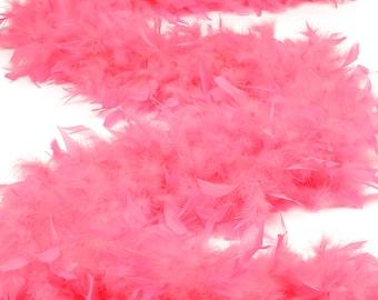 120 Gram Chandelle Feather Boa Pink Orient 2 Yards For Party Favors, Kids Craft & Dress Up, Dancing, Wedding, Halloween, Costume ZUCKER®