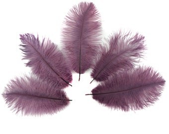 """Bulk Ostrich Feathers 4-8"""" AMETHYST Purple, Mini Ostrich Drabs, Bouquets, Boutonnieres, Small Centerpieces ZUCKER® Dyed and Sanitized USA"""