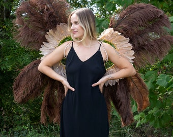 Owl Fairy Carnival Costume Feather Wings, Unique Fantasy Carnival Costume, Dance Wear ZUCKER® Feather Place Original Designs