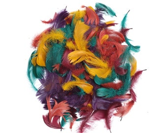 """Goose Coquille Feathers, 3-5"""" Autumn Mix Loose Goose Feathers, Small Feathers, Arts and Craft Supplies ZUCKER®"""