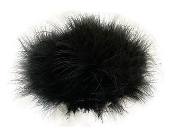 BLACK Strung Marabou Turkey Feathers - For Fly Fishing, Fly Tying, D.I.Y Arts and Crafts ZUCKER®
