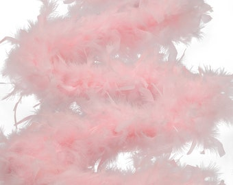 60 Gram Chandelle Feather Boa, Candy Pink 2 Yards For Party Favors, Kids Craft & Dress Up, Dancing, Wedding, Halloween, Costume ZUCKER®